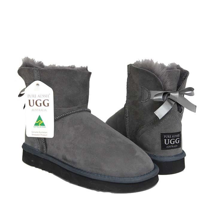 Arrow Mini Ugg Boots - Grey