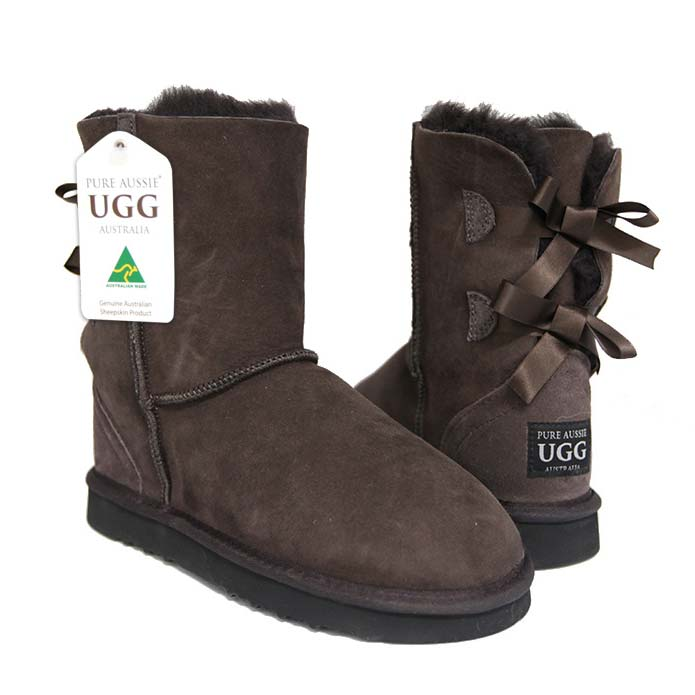 Arrow Short Ugg Boots - Chocolate
