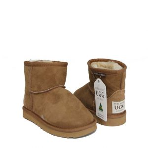 Kids Ankle Ugg Boots - Chestnut