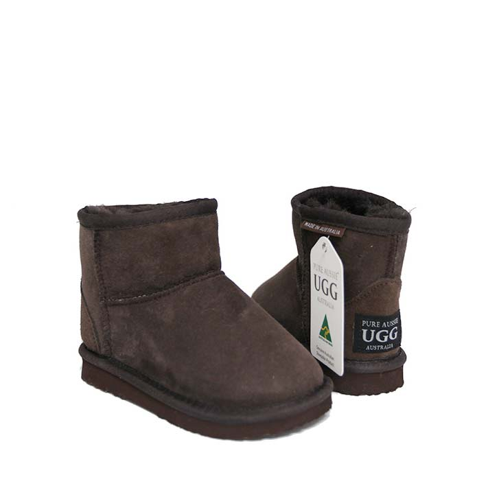 Kids Ankle Ugg Boots - Chocolate