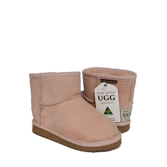 Kids Ankle Ugg Boots - Pastel Pink