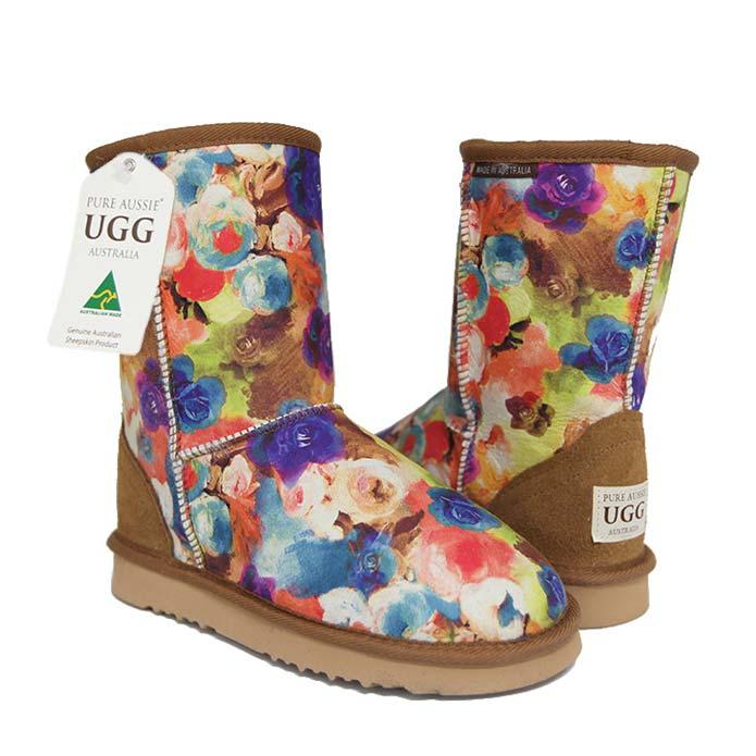 Classic Short Ugg Boots Aqua Bouquet