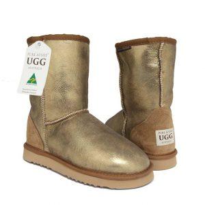 Classic Short Ugg Boots Bronze Nappa
