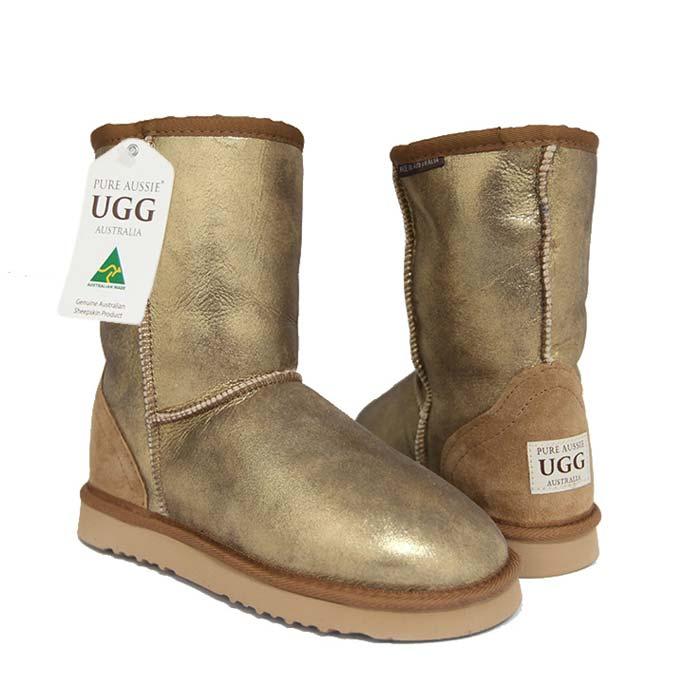 6569e8517c8 Limited Edition Classic Short Ugg Boots - Aqua Bronze Nappa