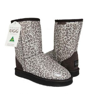 Classic Short Ugg Boots Leopard Brown