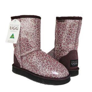 Classic Short Ugg Boots Leopard Purple