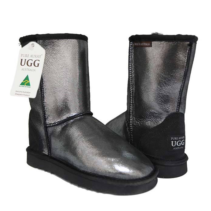 Classic Short Ugg Boots Black Sparkle