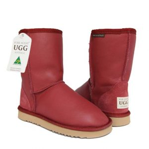 Classic Short Ugg Boots Red Nappa