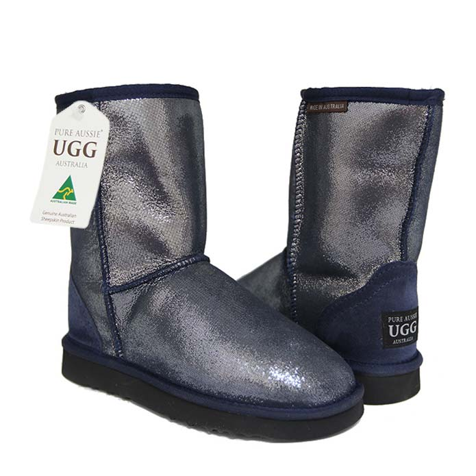 Classic Short Ugg Boots Navy Sparkle