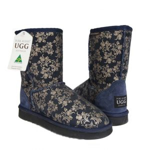 Classic Short Ugg Boots Royal Flower