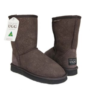 Classic Short Ugg Boots Sparkle Chocolate