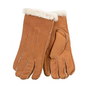 Ladies Sheepskin Gloves - Chestnut