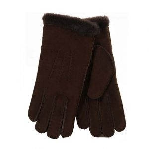 Ladies Sheepskin Gloves - Chocolate