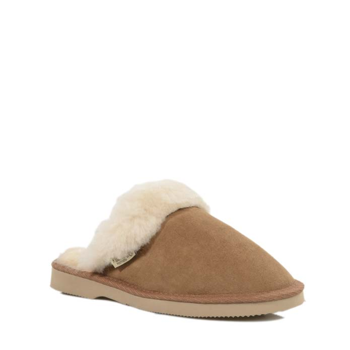 Ladies Sheepskin Scuffs - Chestnut