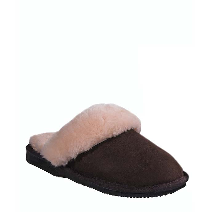 Ladies Sheepskin Scuffs - Chocolate
