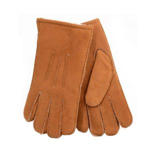 Mens Sheepskin Gloves - Chestnut