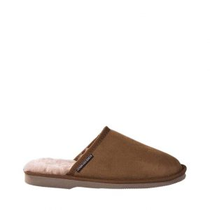 Mens Sheepskin Scuffs - Chestnut