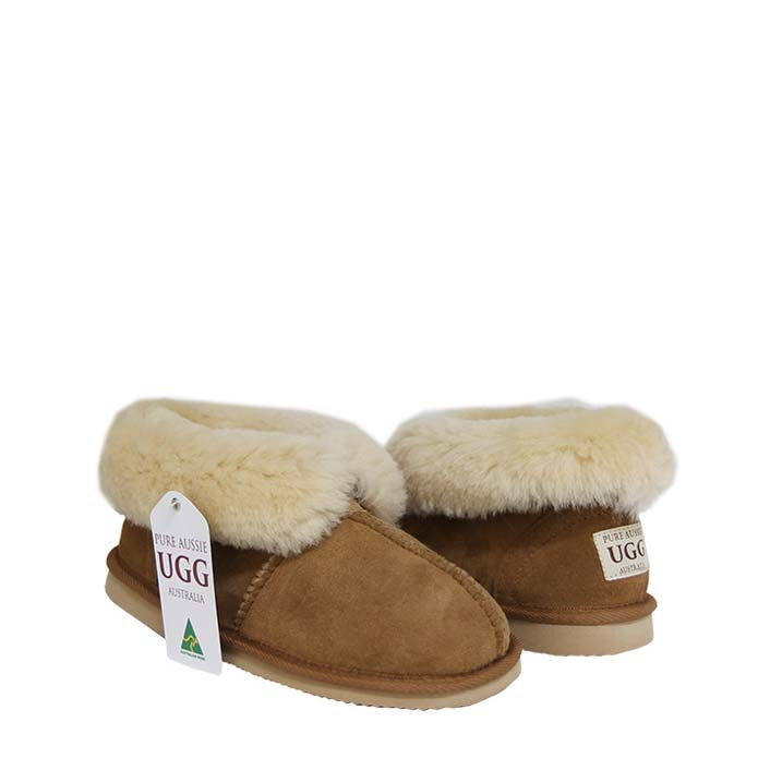 Percey Sheepskin Slippers - Chestnut
