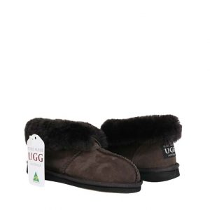 Percey Sheepskin Slippers - Chocolate