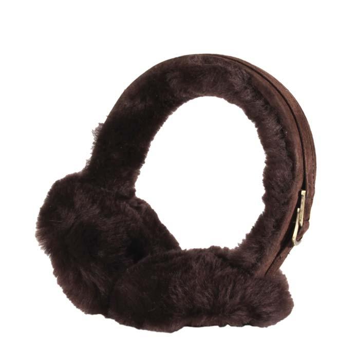 Sheepskin Earmuffs - Chocolate