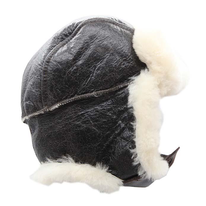 Sheepskin Hat Bomber - Dark Brown