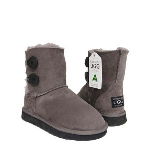 Two Button Ugg Boots - Mink