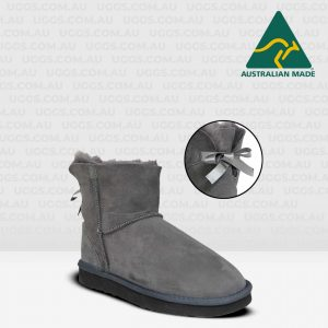 ankle bow ugg boots grey