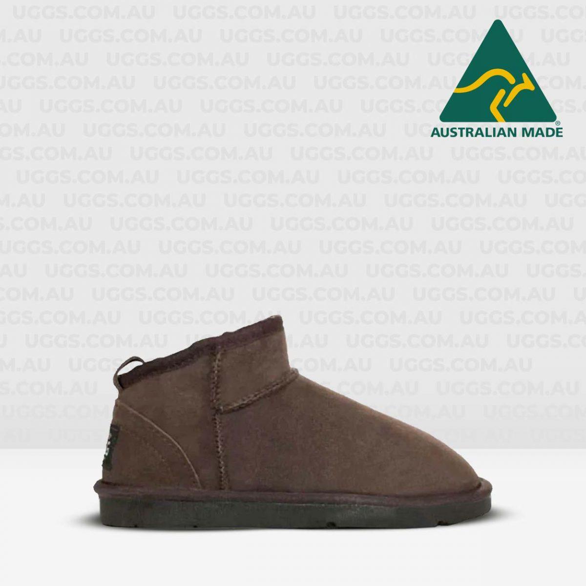 joey mini ugg boots chocolate