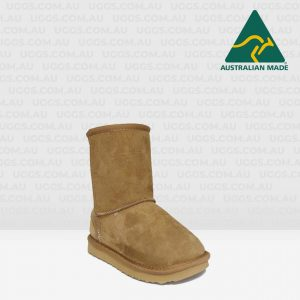 kids short ugg boots chocolate
