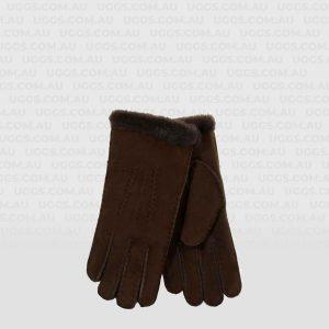ladies sheepskin gloves chocolate