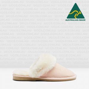 ladies sheepskin ugg scuffs pink