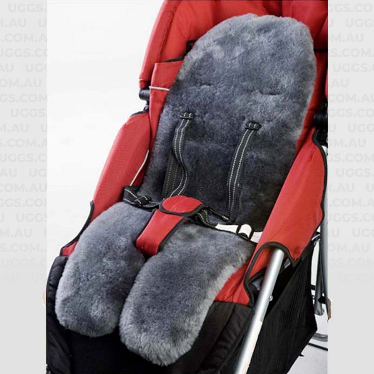 lambskin stroller liner charcoal