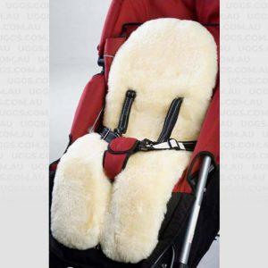 lambskin stroller liner cream