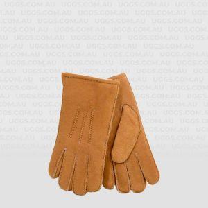 mens sheepskin gloves chestnut