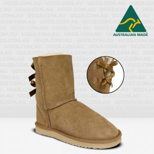 mid bow ugg boots chestnut
