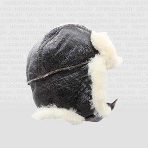 sheepskin hat bomber chocolate