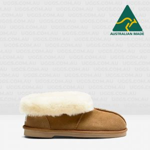 sheepskin ankle ugg slippers chestnut