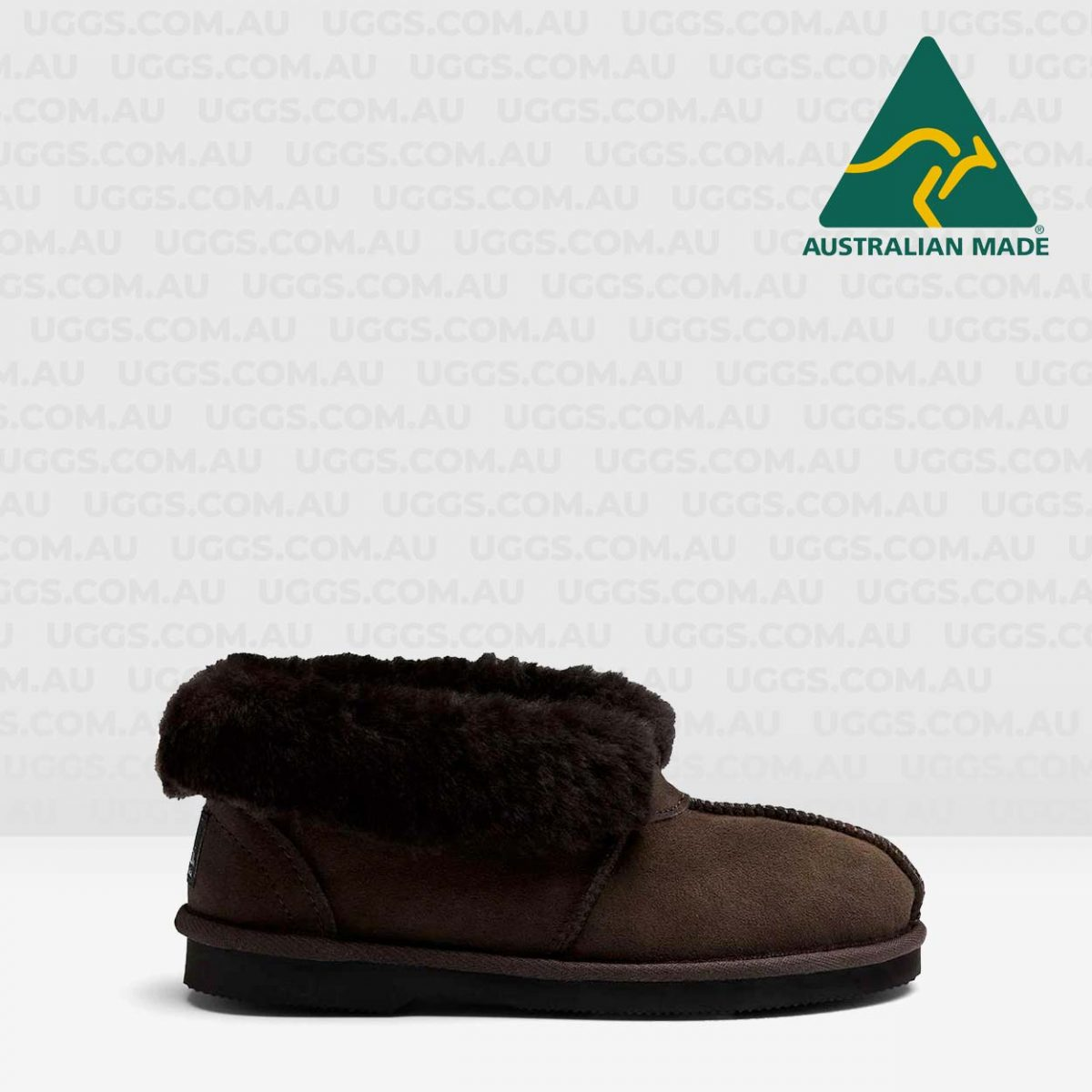 sheepskin ankle ugg slippers chocolate