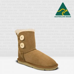 two button ugg boots chestnut