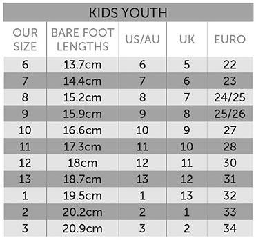 Ugg Boots Sizing Chart - Kids