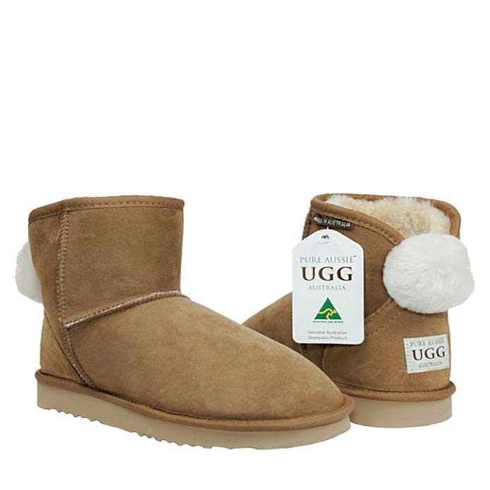 Ankle Bunny Ugg Boots - Chestnut