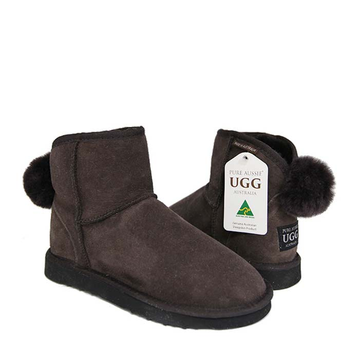 Ankle Bunny Ugg Boots - Chocolate