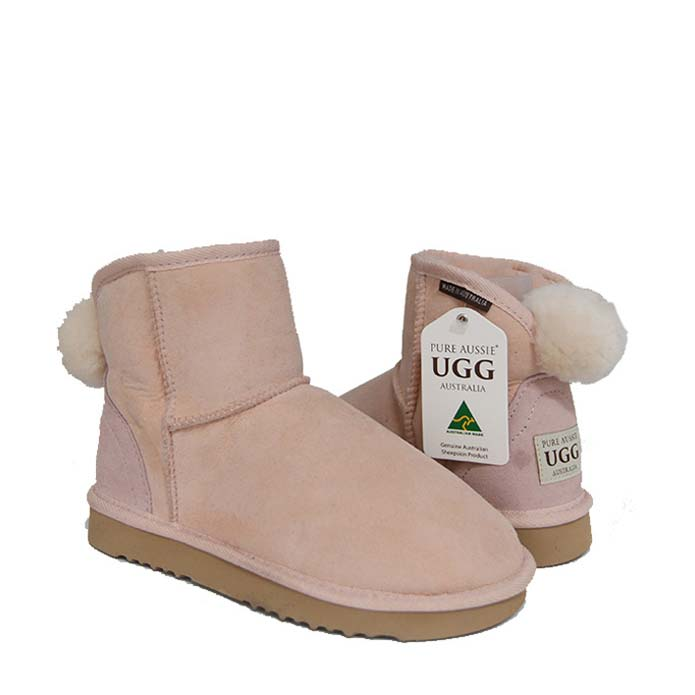 Ankle Bunny Ugg Boots - Pastel Pink