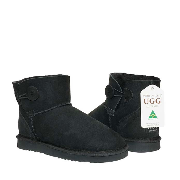 Button Ugg Boots - Black
