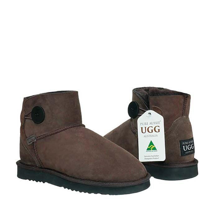 Button Ugg Boots - Chocolate