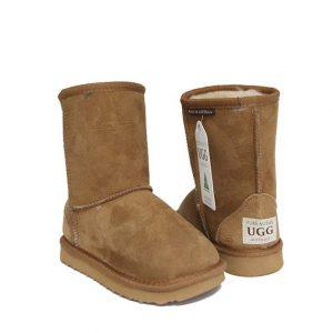 Kids Short Ugg Boots - Chestnut