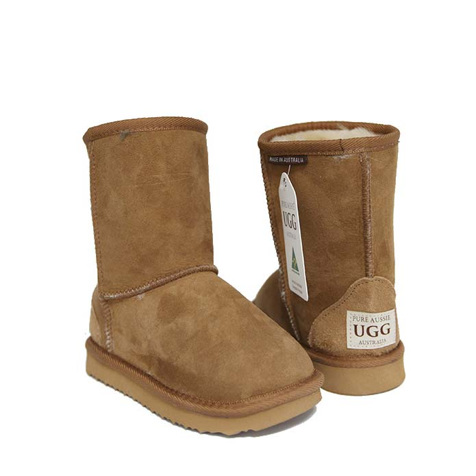 Kids Short Ugg Boots - Chestnut