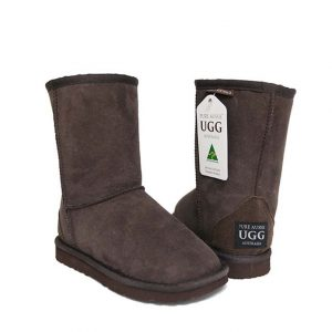 Kids Short Ugg Boots - Chocolate