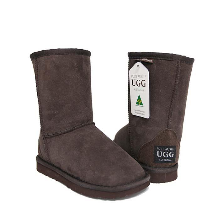 Kids Short Ugg Boots - Chocolate