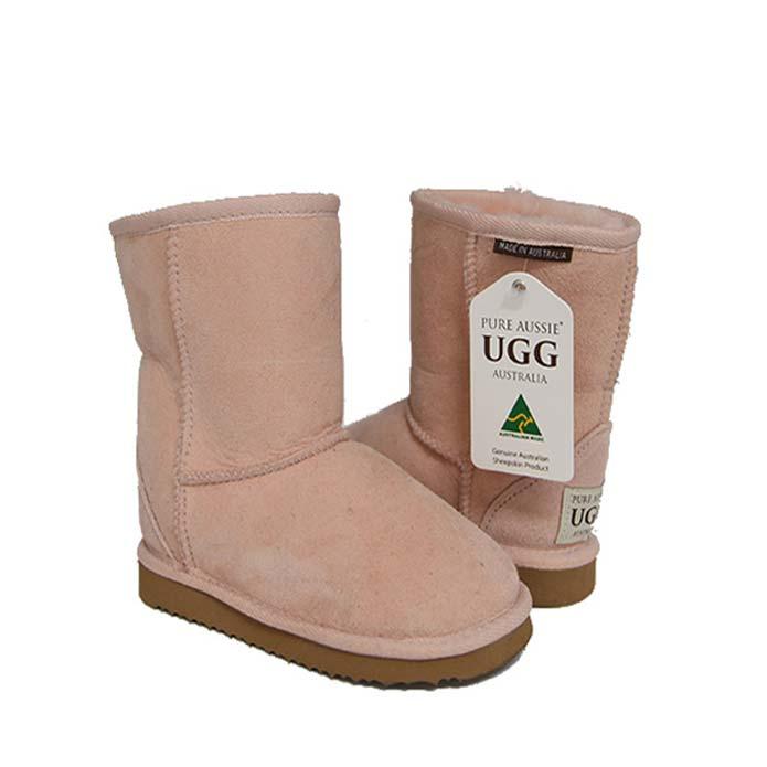 Kids Short Ugg Boots - Pastel Pink
